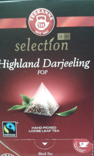 Teekanne Selection Highland Darjeeling FOP